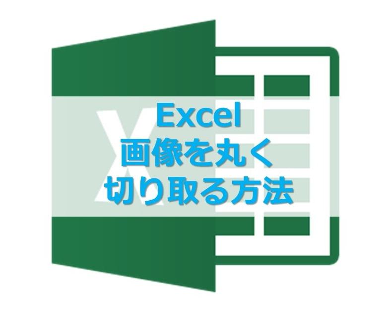 【Excel】エクセルで画像を丸く切り抜く方法